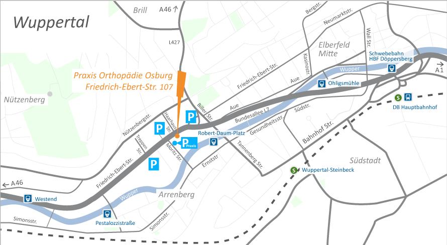 Orthopaedie-Osburg-Anfahrtskarte